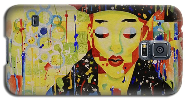 Galaxy S5 Case featuring the painting Party Girl by Cynthia Powell