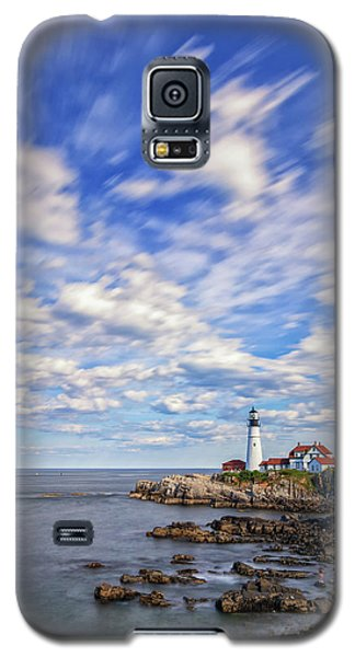 Passing Clouds At Portland Head Light Galaxy S5 Case