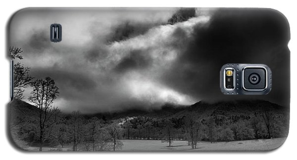 Galaxy S5 Case featuring the photograph Passing Snow In North Carolina In Black And White by Greg Mimbs