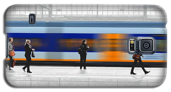 Passing Train Galaxy S5 Case by Pedro L Gili