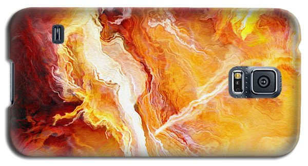 Passion - Abstract Art - Triptych 2 Of 3 Galaxy S5 Case