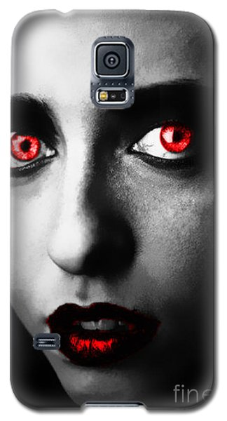 Galaxy S5 Case featuring the painting Passion Glare by Tbone Oliver
