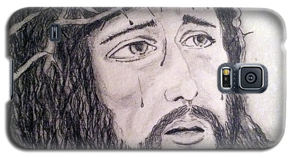 Galaxy S5 Case featuring the painting Passion Of Christ by Brindha Naveen