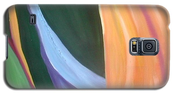 Galaxy S5 Case featuring the painting Passion Unfolding 1 by Lori Jacobus-Crawford