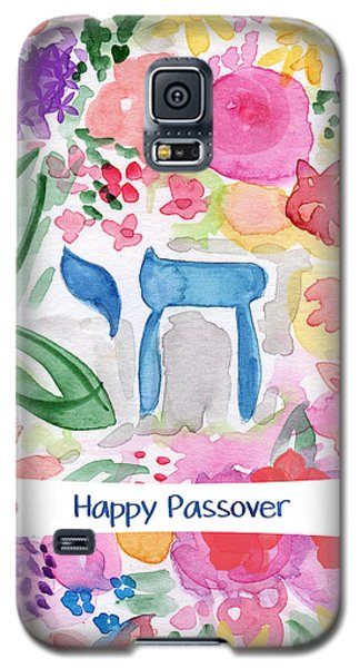 Galaxy S5 Case featuring the mixed media Passover Chai- Art By Linda Woods by Linda Woods