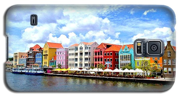 Pastel Building Coastline Of Caribbean Galaxy S5 Case by Amy McDaniel