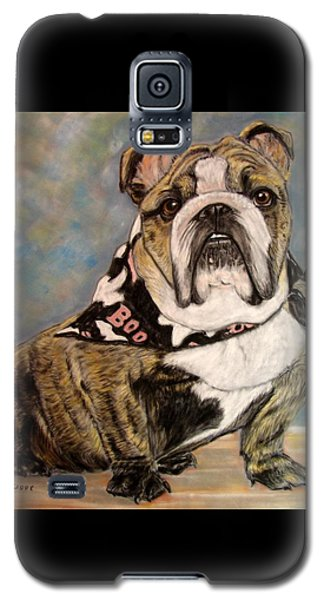 Pastel English Brindle Bull Dog Galaxy S5 Case by Patricia L Davidson