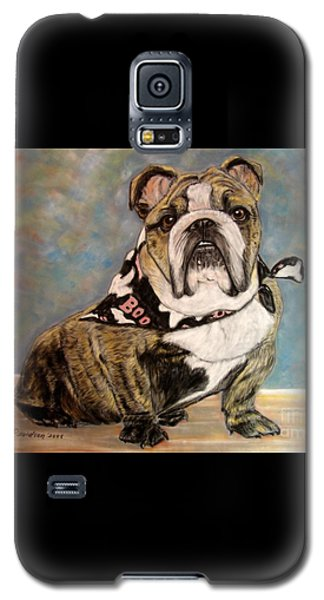 Galaxy S5 Case featuring the painting Pastel English Brindle Bull Dog by Patricia L Davidson