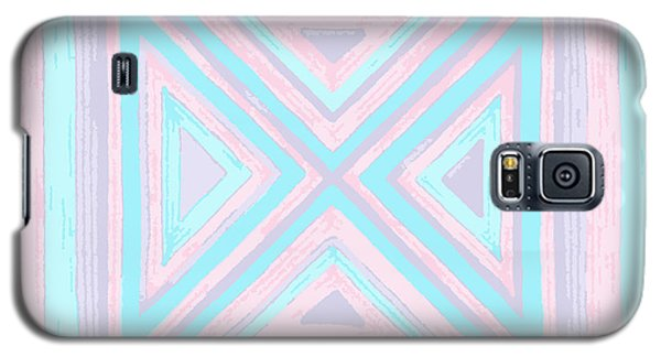 Galaxy S5 Case featuring the drawing Pastel Patchwork by Jill Lenzmeier
