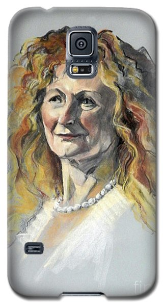 Pastel Portrait Of Woman With Frizzy Hair Galaxy S5 Case
