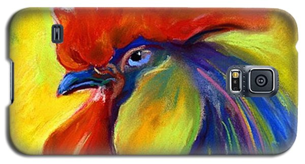 Colorful Galaxy S5 Case - Pastel Rooster By Svetlana Novikova ( by Svetlana Novikova