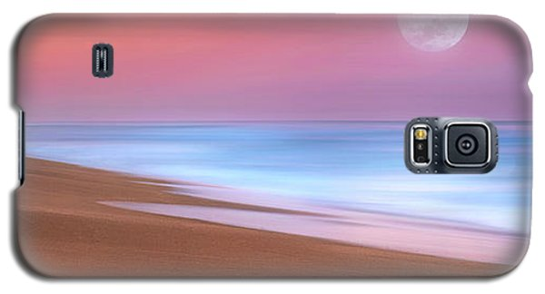 Pastel Sunset And Moonrise Over Hutchinson Island Beach, Florida. Galaxy S5 Case
