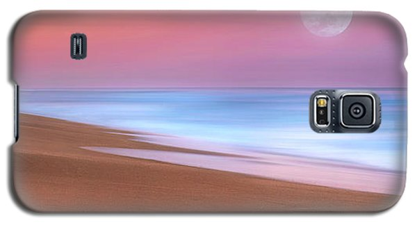 Pastel Sunset And Moonrise Over Hutchinson Island Beach, Florida. Galaxy S5 Case by Justin Kelefas