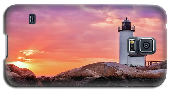 Pastel Sunset, Annisquam Lighthouse Galaxy S5 Case