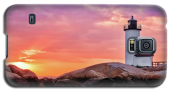 Pastel Sunset, Annisquam Lighthouse Galaxy S5 Case