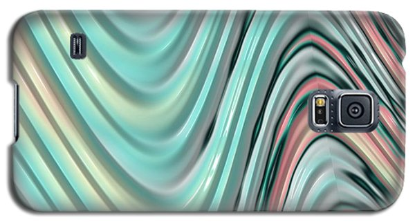 Galaxy S5 Case featuring the digital art Pastel Zigzag by Bonnie Bruno