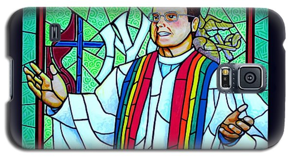 Galaxy S5 Case featuring the painting Pastor Charlie by Jim Harris