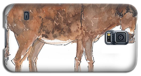 Pasture Boss 2015 Watercolor Painting By Kmcelwaine Galaxy S5 Case