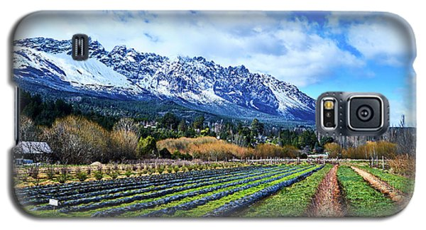 Landscape With Mountains And Farmlands In The Argentine Patagonia Galaxy S5 Case