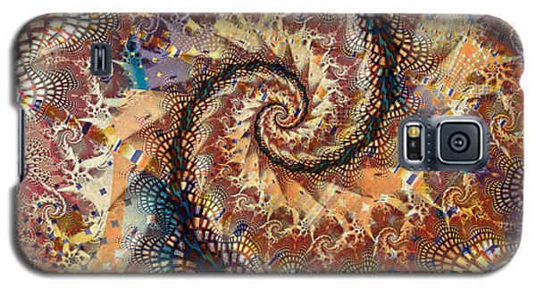Galaxy S5 Case featuring the digital art Patchwork Spiral by Richard Ortolano