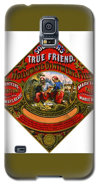 Galaxy S5 Case featuring the photograph Patent Medicine Label 1862 by Padre Art