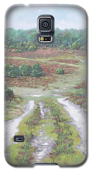 Galaxy S5 Case featuring the painting Path In New Forest  by Martin Davey