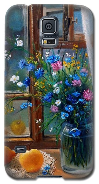 Galaxy S5 Case featuring the painting Path To Home by Nina Mitkova