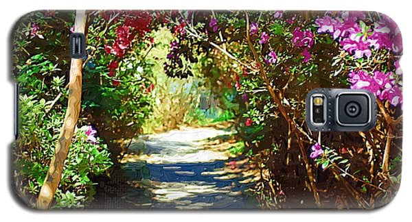 Galaxy S5 Case featuring the digital art Path To The Gardens by Donna Bentley