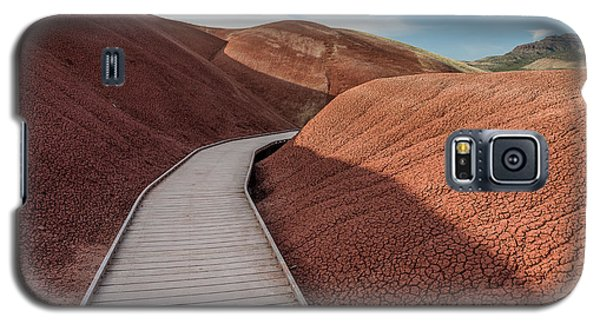 Galaxy S5 Case featuring the photograph Pathway Through The Reds by Greg Nyquist
