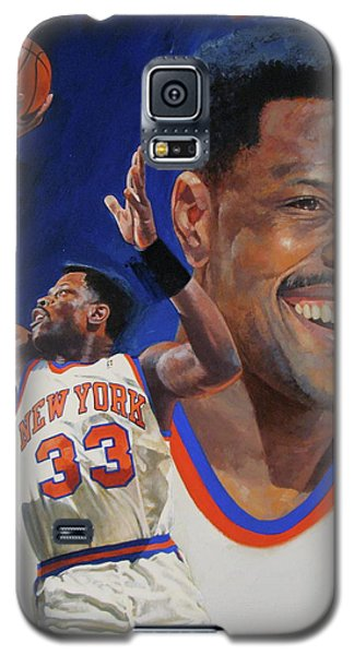 Galaxy S5 Case featuring the painting Patrick Ewing by Cliff Spohn