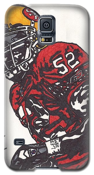 Galaxy S5 Case featuring the drawing Patrick Willis by Jeremiah Colley