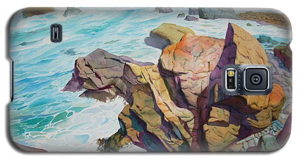 Galaxy S5 Case featuring the painting Patricks Point by John Norman Stewart