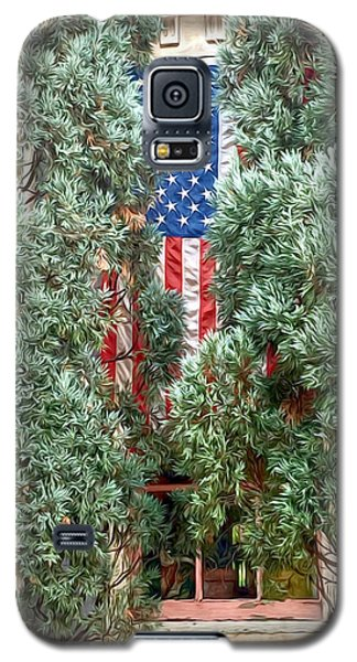 Galaxy S5 Case featuring the photograph Patriotic Georgetown Home by Lorella Schoales