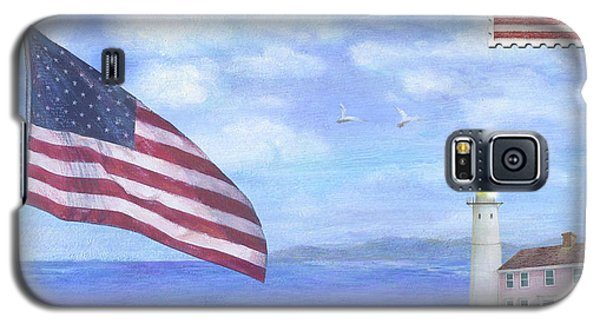 Patriotic Illustrated Lighthouse Galaxy S5 Case