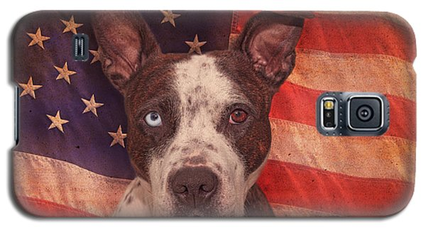 Patriotic Pit Bull  Galaxy S5 Case by Brian Cross