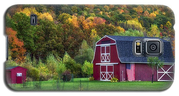 Patriotic Red Barn Galaxy S5 Case by Mark Papke