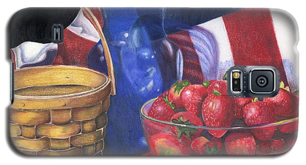 Patriotic Strawberries Galaxy S5 Case