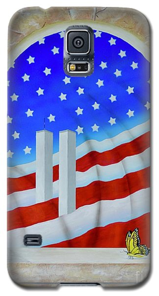 Galaxy S5 Case featuring the painting Patriotic View by Mary Scott