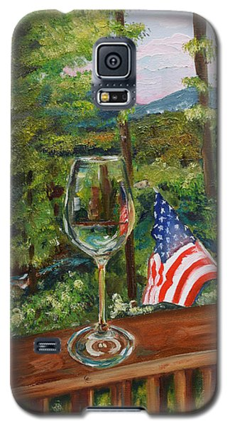 Star Spangled Wine - Fourth Of July - Blue Ridge Mountains Galaxy S5 Case