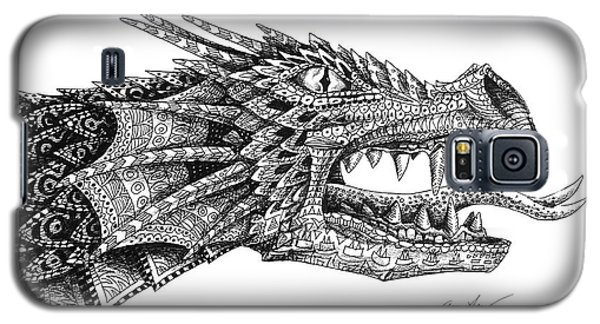 Galaxy S5 Case featuring the drawing Pattern Design Dragon by Aaron Spong