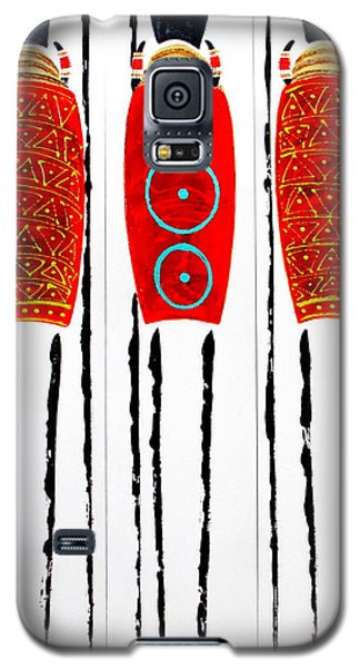 Patterned Masai Triptych Galaxy S5 Case