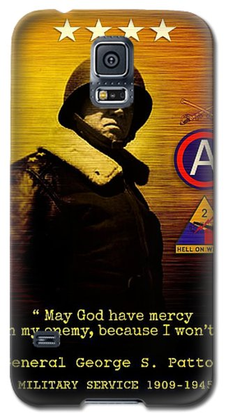 Galaxy S5 Case featuring the digital art Patton Tribute by John Wills