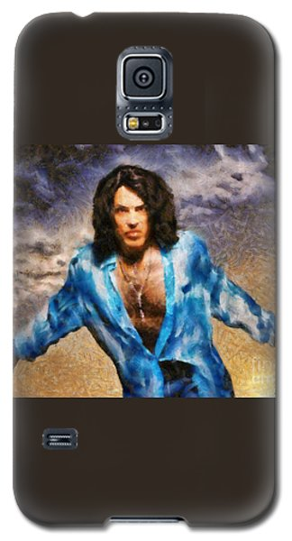 Galaxy S5 Case featuring the painting Paul Stanley Of Kiss by Elizabeth Coats