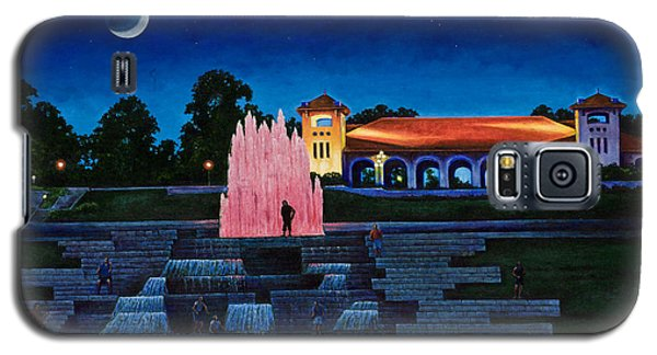 Galaxy S5 Case featuring the painting Pavilion Fountains by Michael Frank