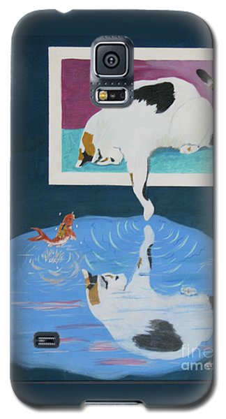 Galaxy S5 Case featuring the painting Paws And Effect by Phyllis Kaltenbach