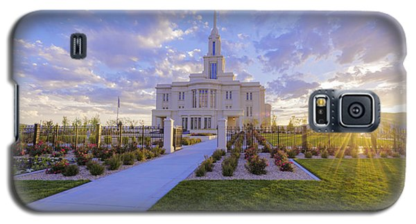 Sunset Galaxy S5 Case - Payson Temple I by Chad Dutson