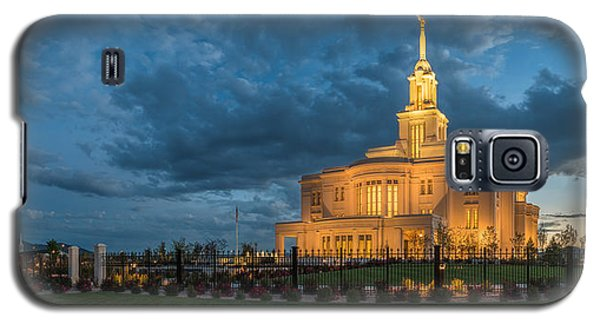 Payson Temple Panorama Galaxy S5 Case