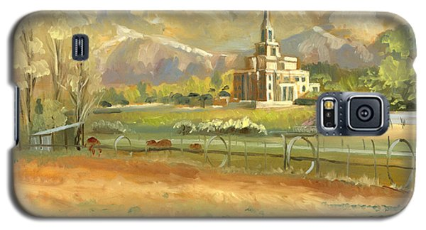 Payson Temple Plein Air Galaxy S5 Case