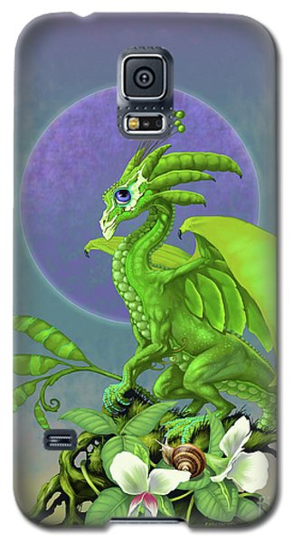 Galaxy S5 Case featuring the digital art Pea Pod Dragon by Stanley Morrison
