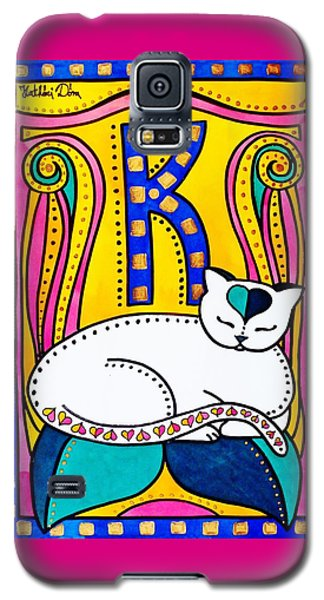 Peace And Love - Cat Art By Dora Hathazi Mendes Galaxy S5 Case by Dora Hathazi Mendes